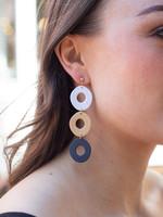 Kaju Jewerly Creations Dina Earrings - Desert/Black