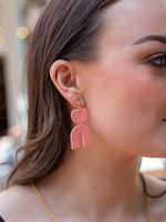 Kaju Jewerly Creations Baby Misha Earrings - Coral