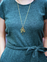 Brass Small Birch Necklace