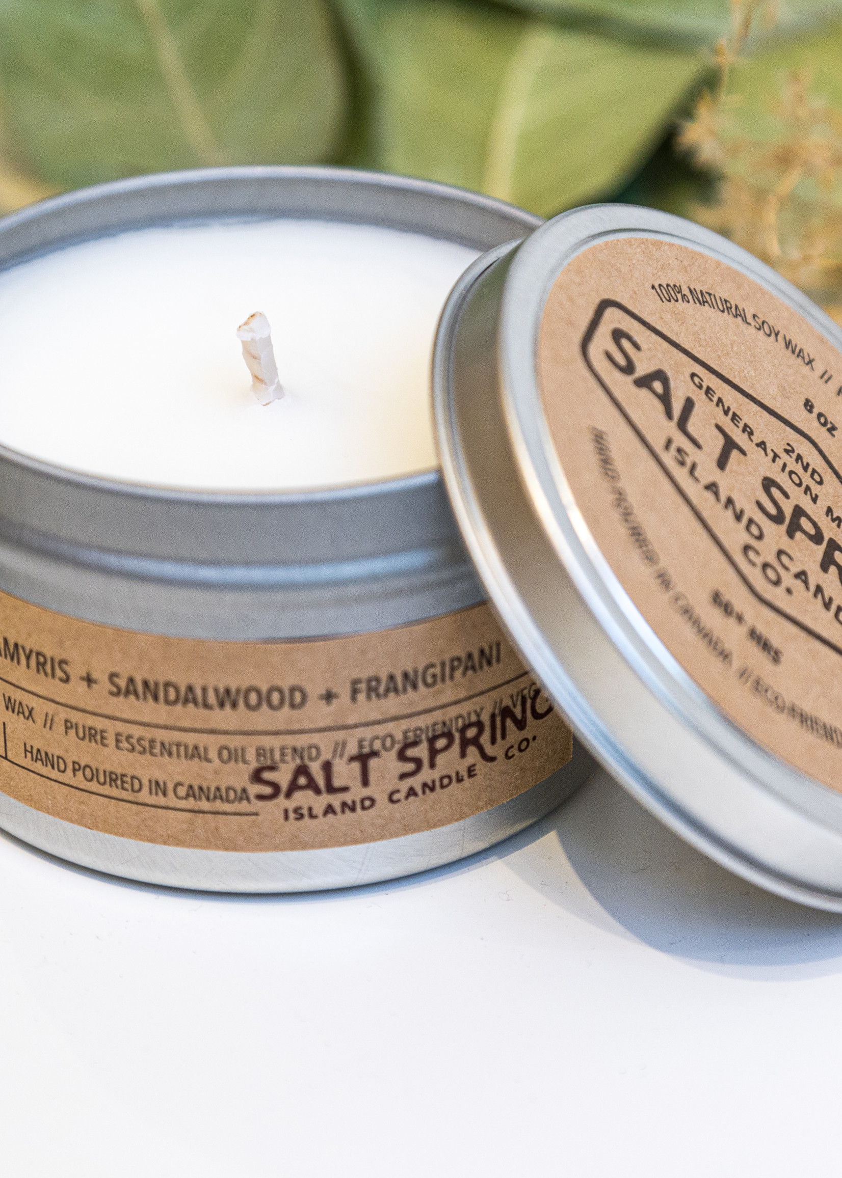 Salt Spring Island Candle Co. - Yoga 8 oz Candle