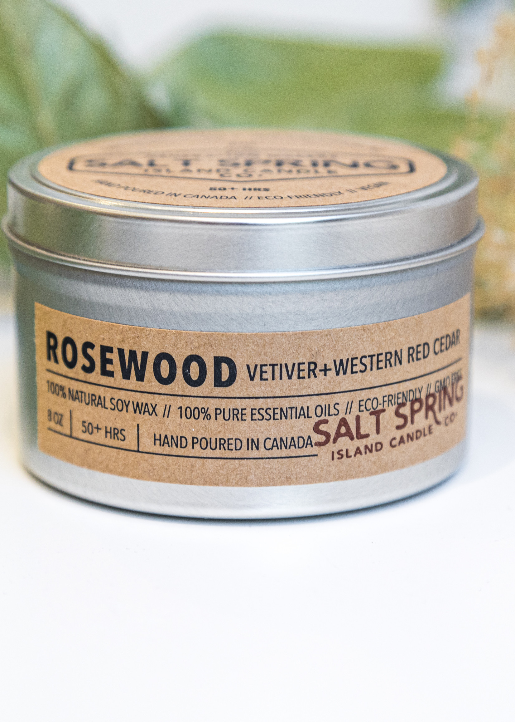 Salt Spring Island Candle Co. - Rosewood 8oz Candle