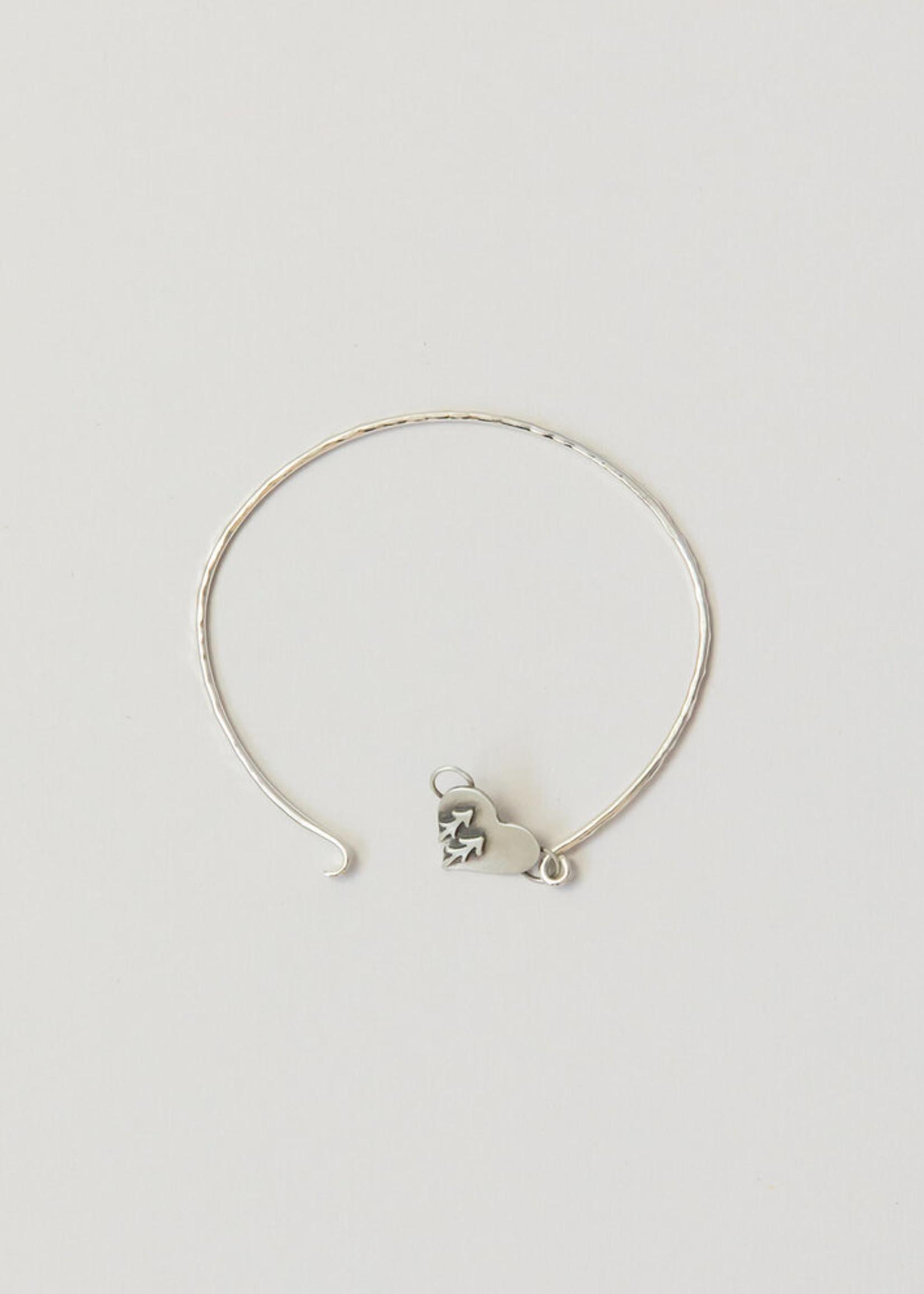 Loops Silver Heart Bracelet Tree
