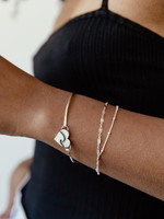 Silver Heart Bracelet  Wave