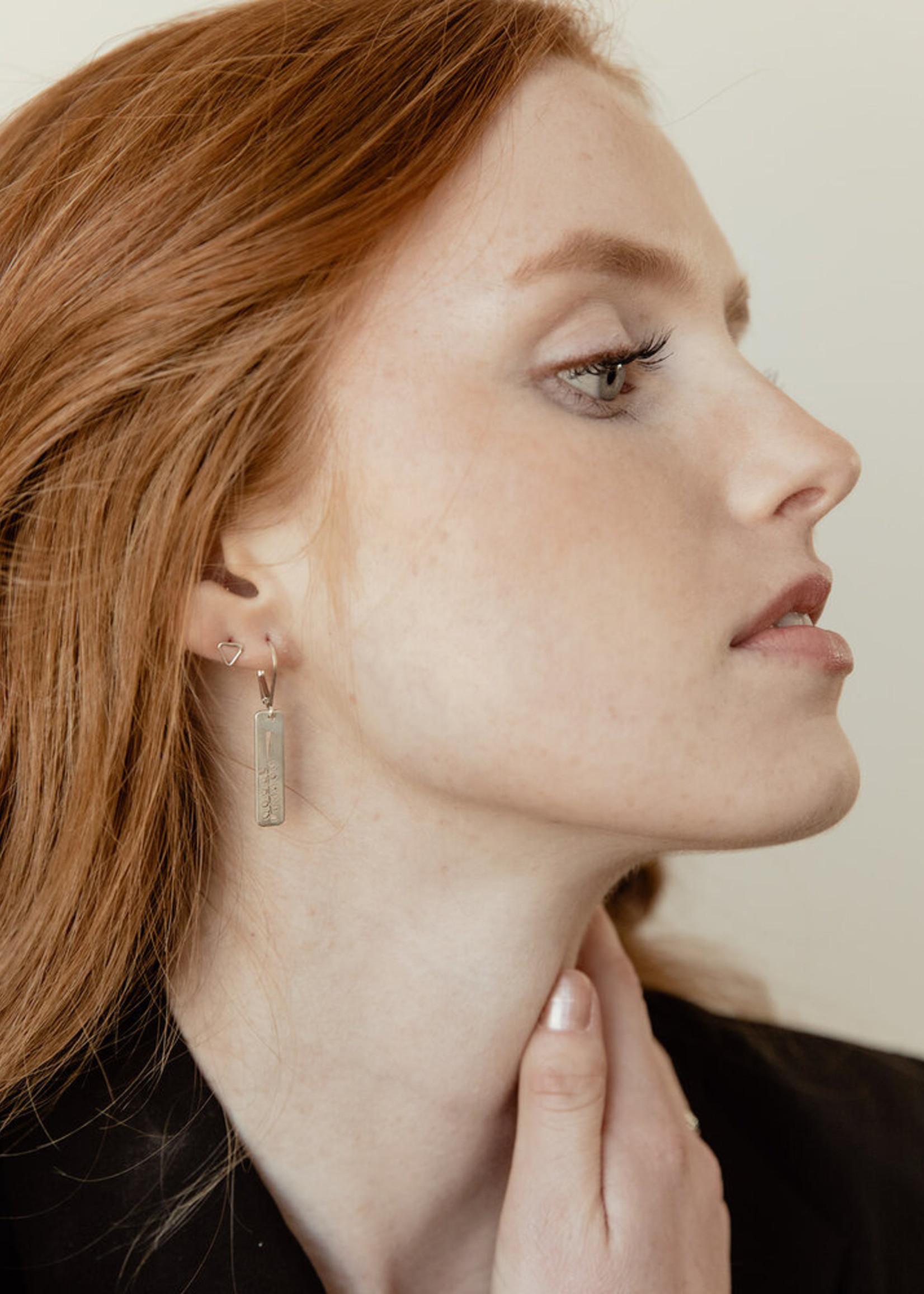 Loops Silver Fern Earrings