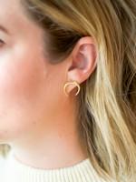 Elizabeth Lyn Jewelry Gold Waxing  Luna Studs