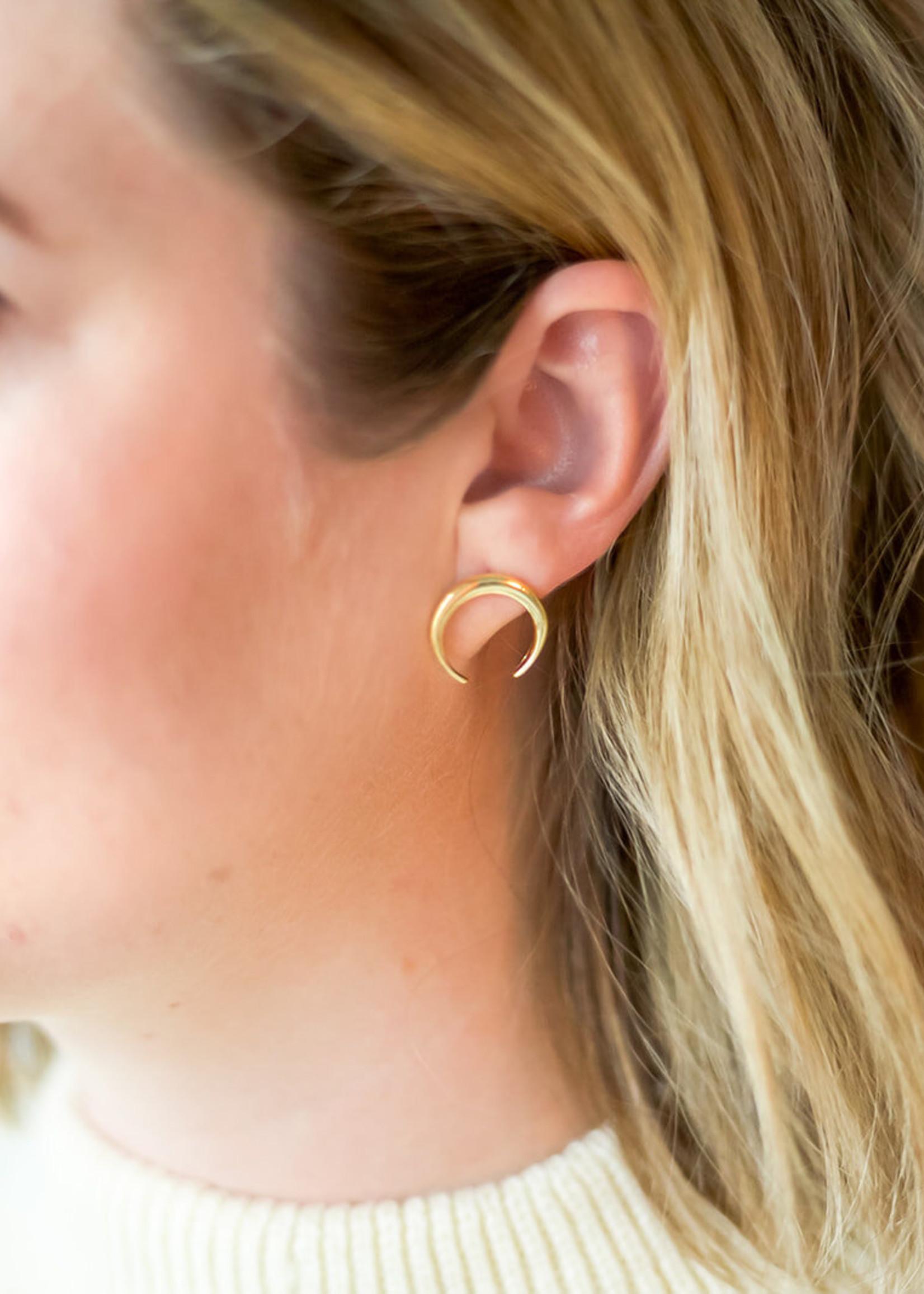 Elizabeth Lyn Jewelry Elizabeth Lyn  Gold Waxing  Luna Studs
