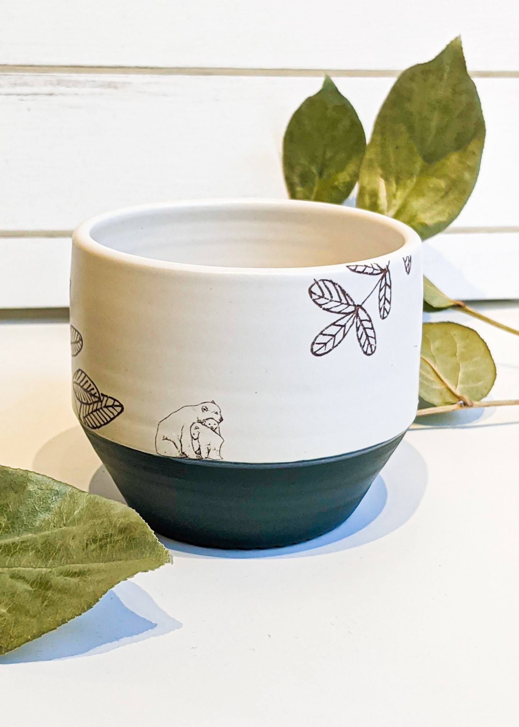Blackbird Studios - Linnaea Mug (Green w/ Bears)
