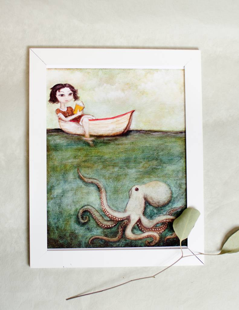 Maggie and The Octopus 8x10 Print