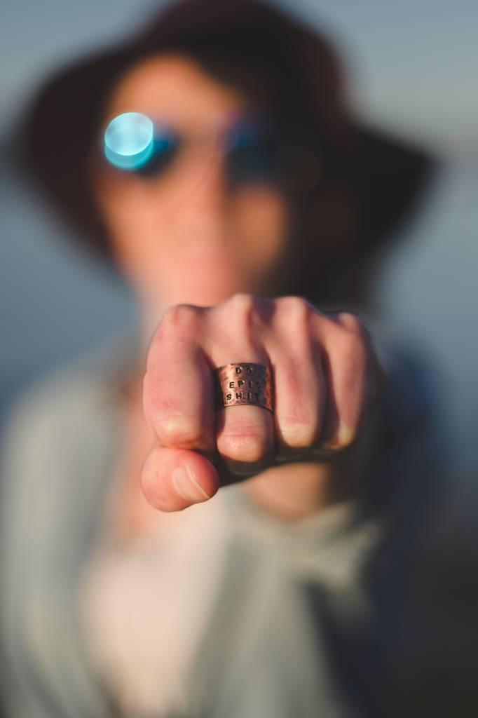 """Do Epic Shit"" Hand-stamped Copper Ring"