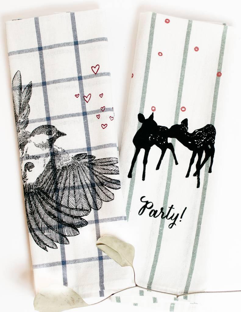 Deer Tea Towel (Sage)