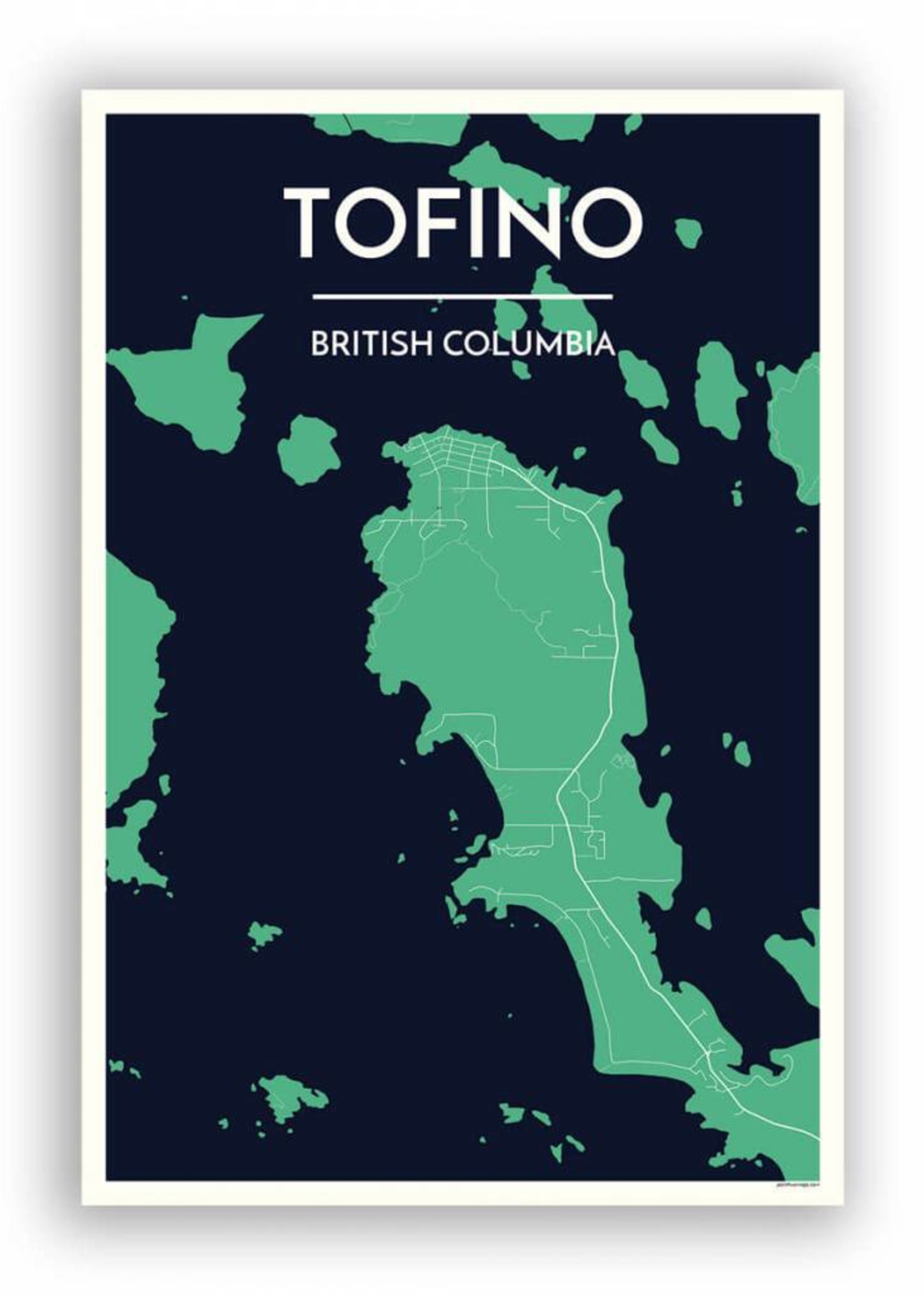 Point Two Designs - Tofino Map (Meadow)