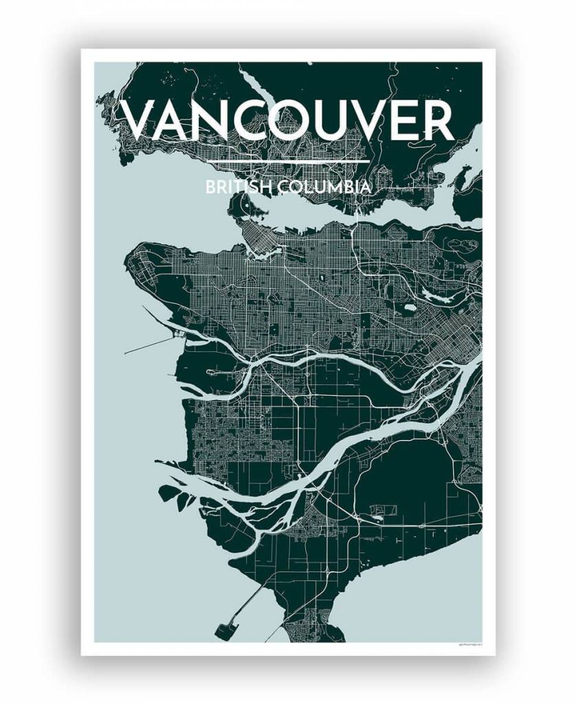Vancouver Map (Blue)