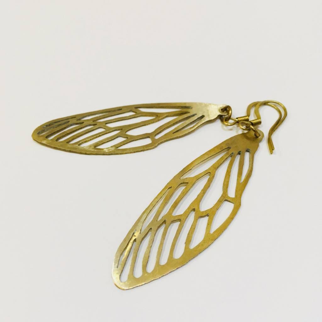 eb9b217b78471d Brass Dragonfly Stencil Earrings Brass Dragonfly Stencil Earrings ...