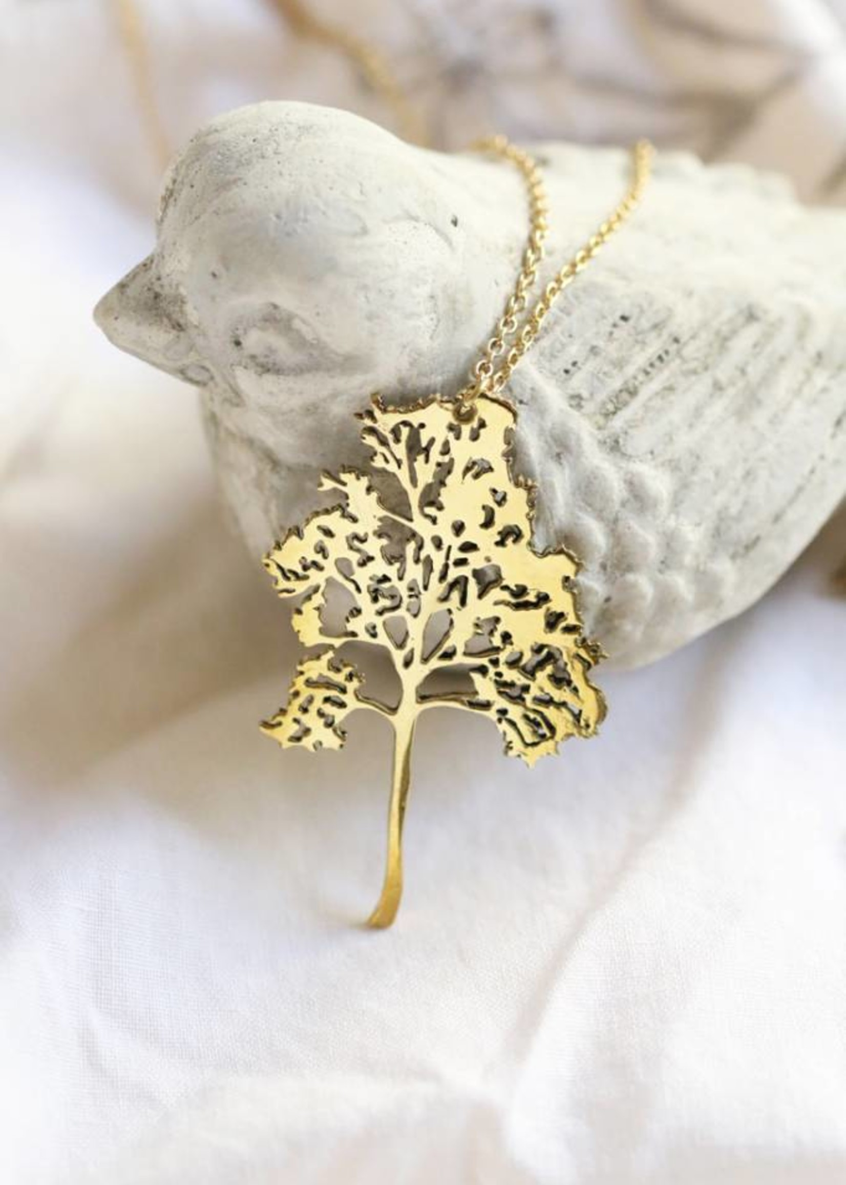 Migration - Brass Small Birch Necklace