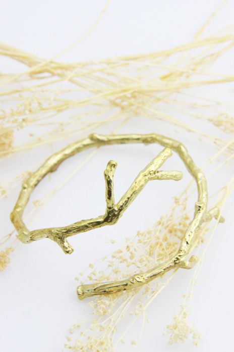 Brass Branch Bracelet