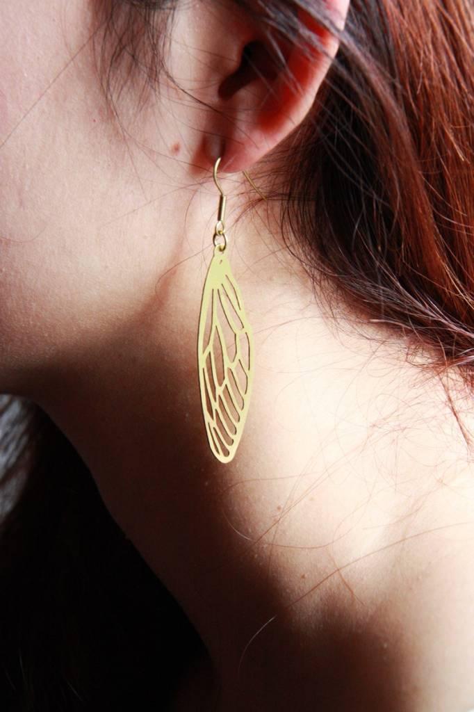 Dragonfly Stencil Earrings