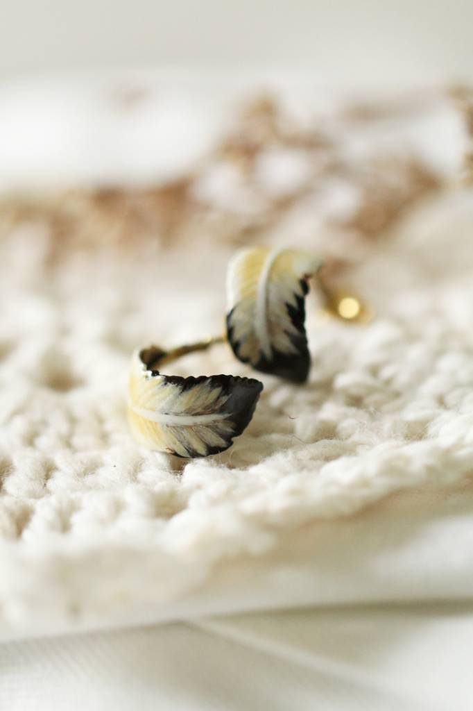 Feather Painted Studs