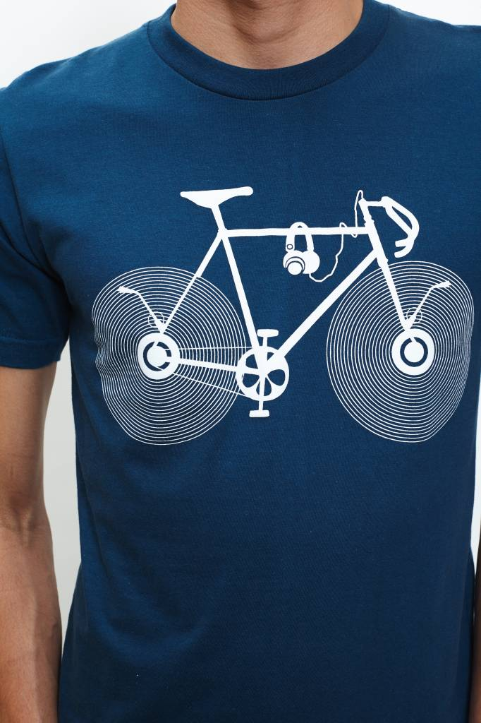 Bike with Record Wheels T-Shirt