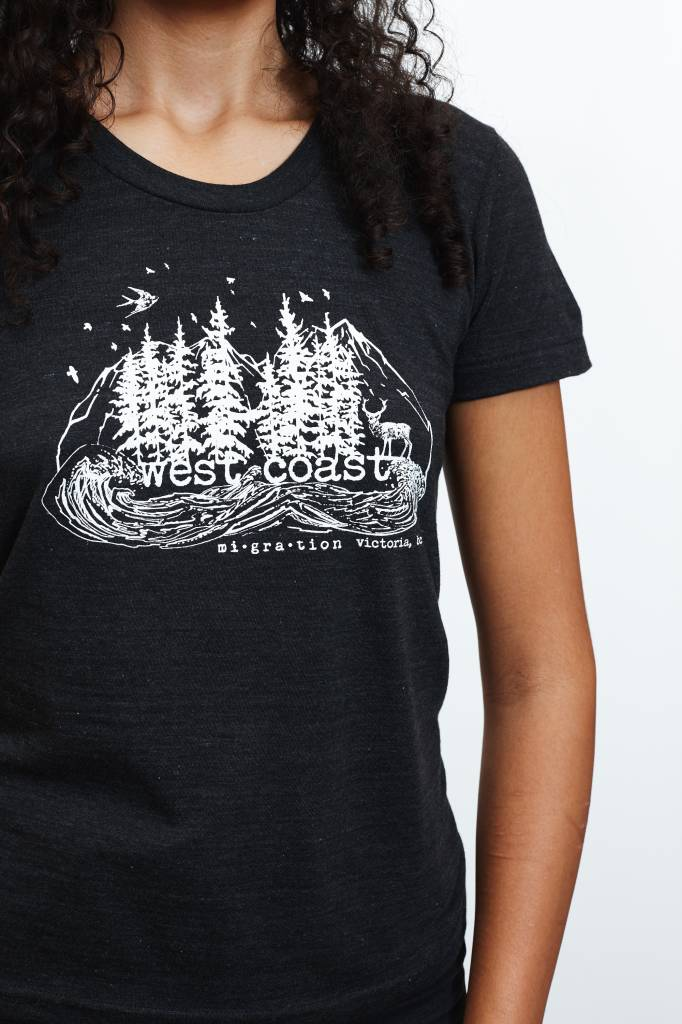West Coast Charcoal T-Shirt Woman (Black)