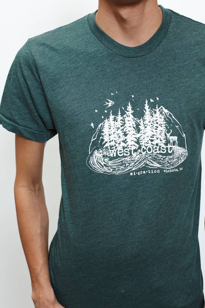 West Coast Forest T-Shirt Man (Green)