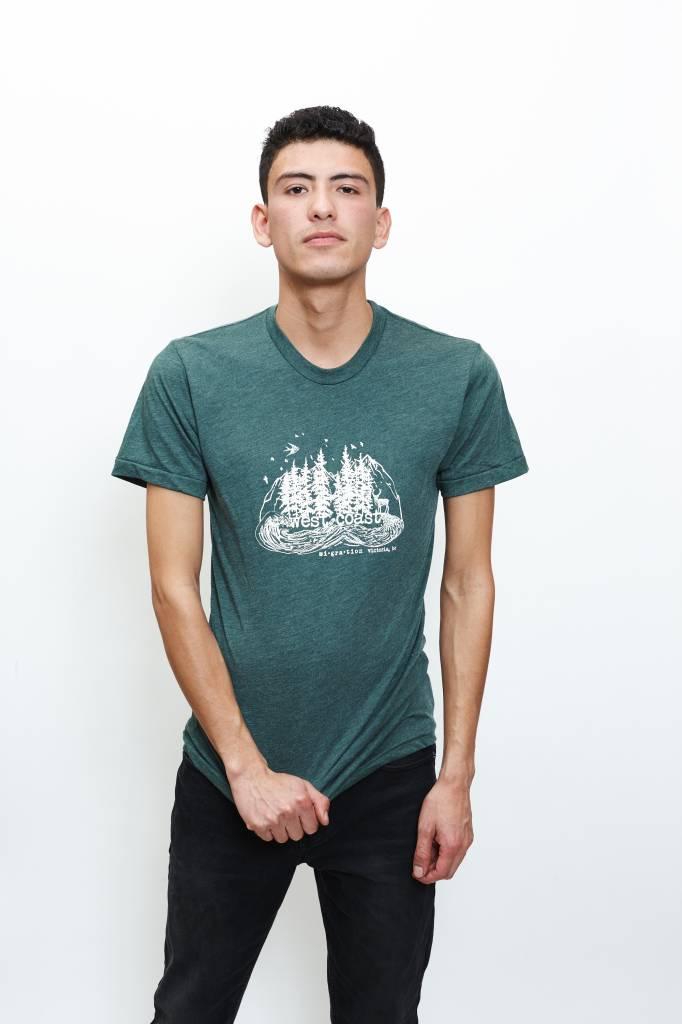 West Coast Forest T-Shirt Man (Green)