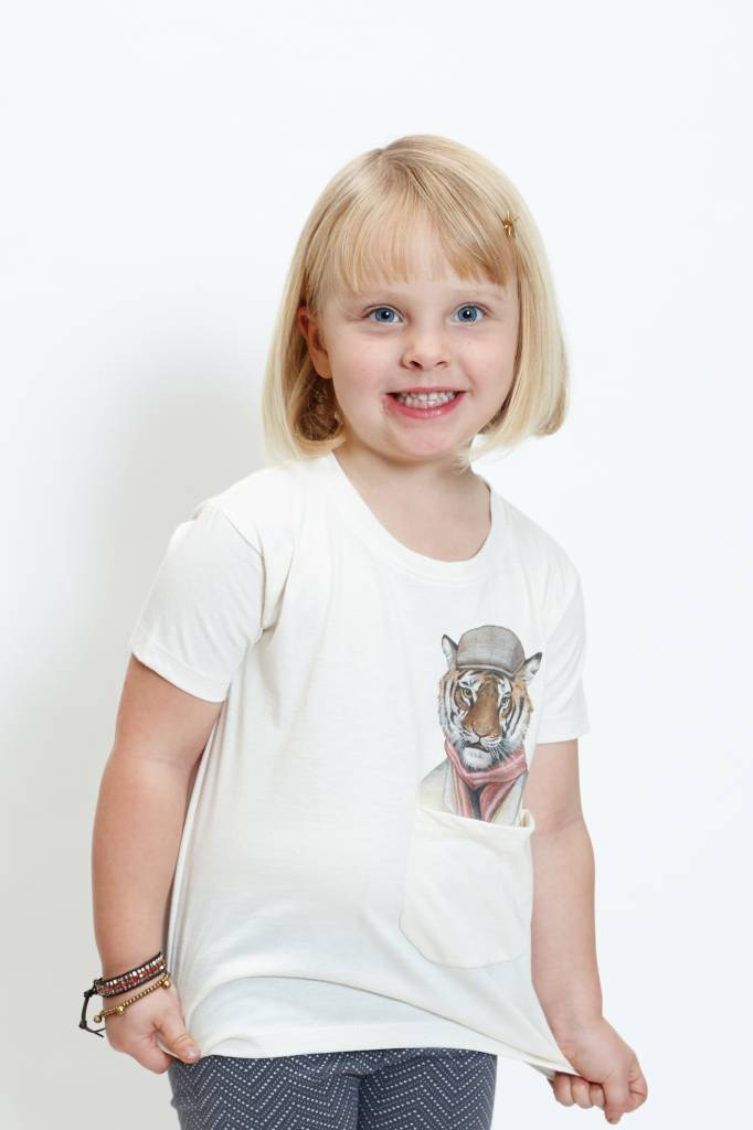 Trendy Tiger Pocket Tee