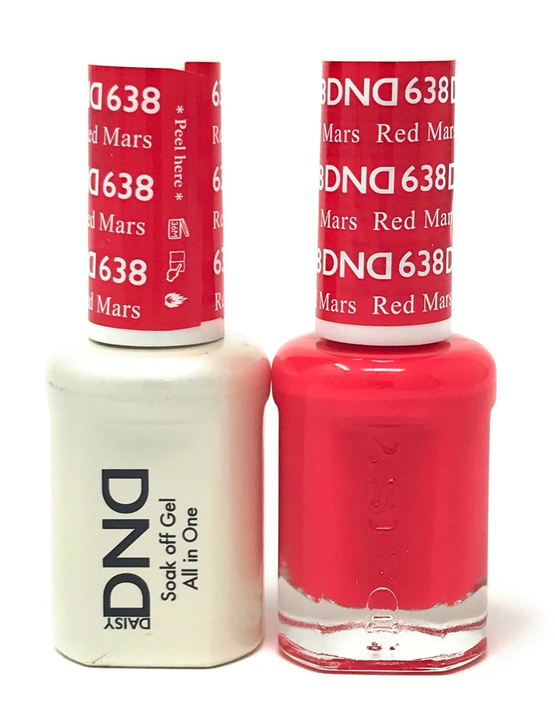 DND 638 Red Mars - DND Duo Gel + Lacquer
