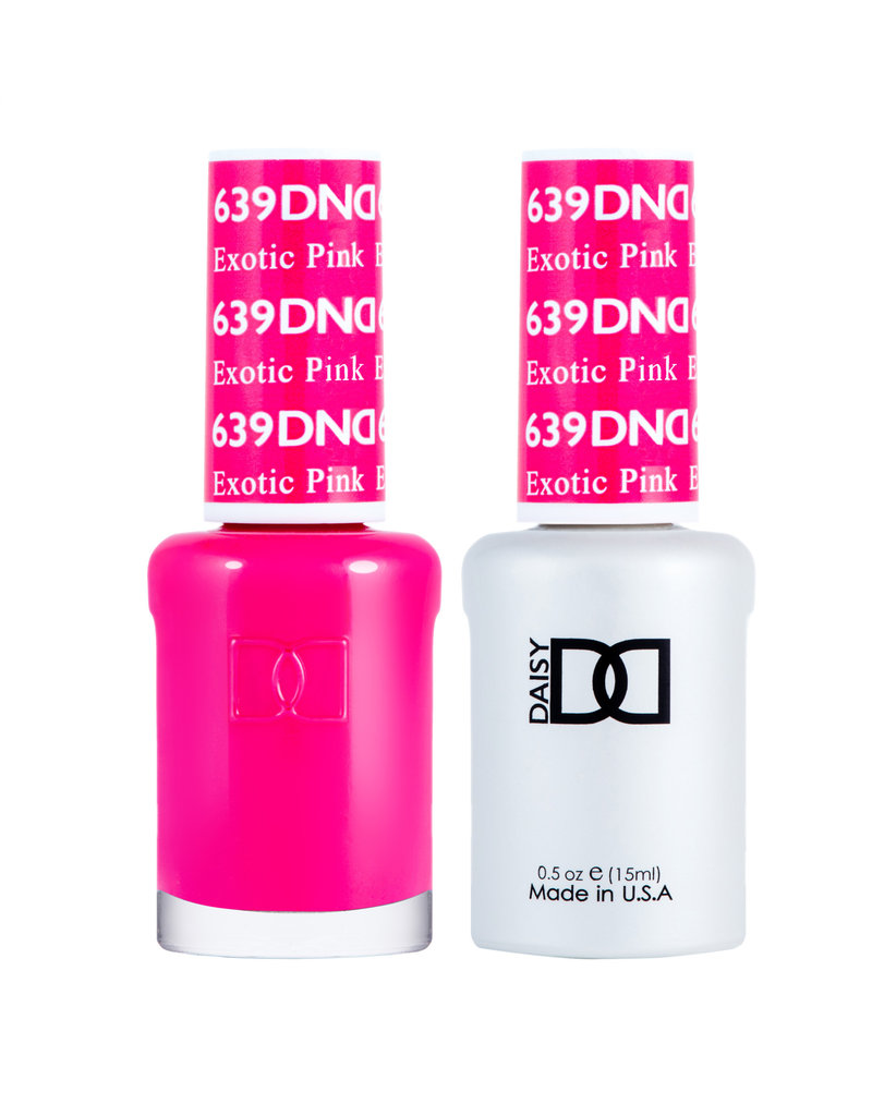 DND 639 Exotic Pink - DND Duo Gel + Lacquer