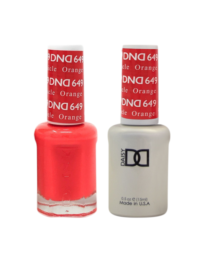 DND 649 Orange Creamsicle - DND Duo Gel + Lacquer