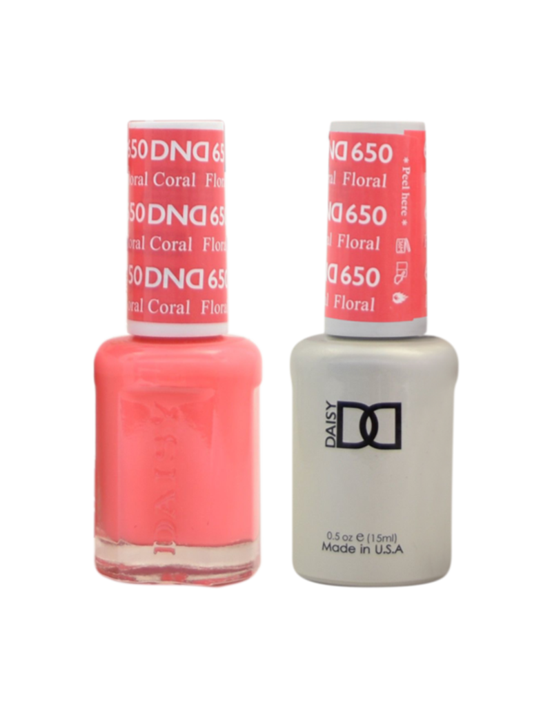 DND 650 Foral Coral - DND Duo Gel + Lacquer
