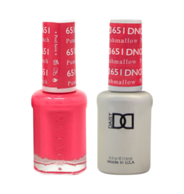 DND 651 Punch Marshmallow - DND Duo Gel + Lacquer