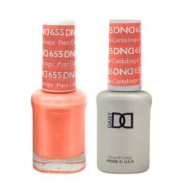 DND 655 Pure Cataloupe - DND Duo Gel + Lacquer