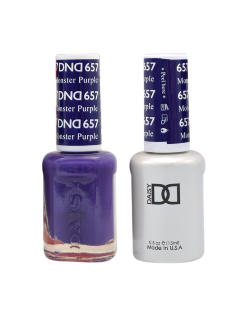 DND 657 Monster Purple - DND Duo Gel + Lacquer