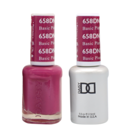 DND 658 Basic Plum - DND Duo Gel + Lacquer