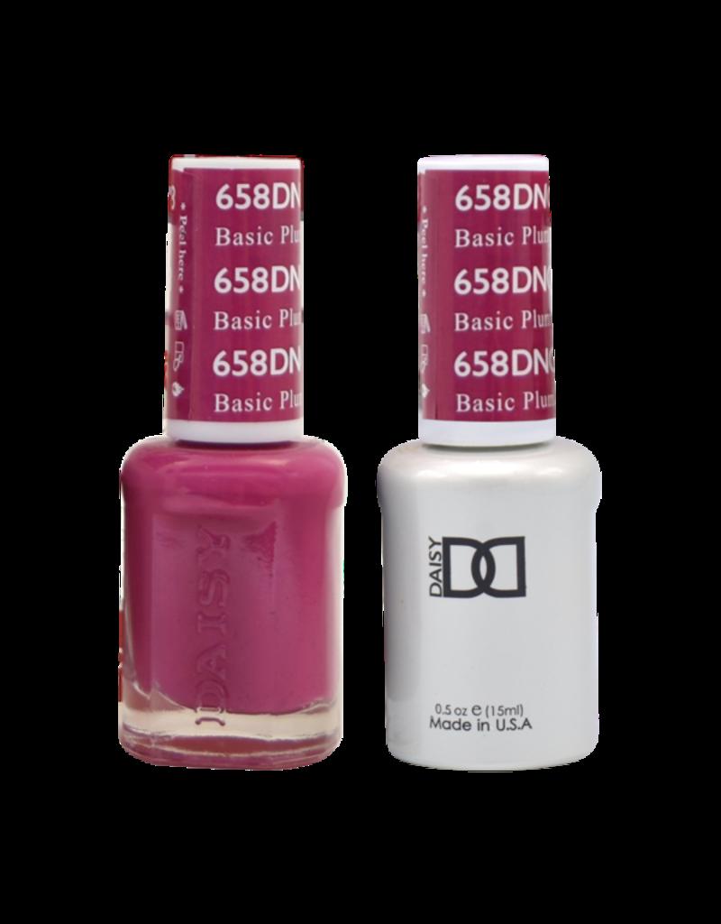 DND 658 Basic Plum - DND Duo Gel + Lacquer