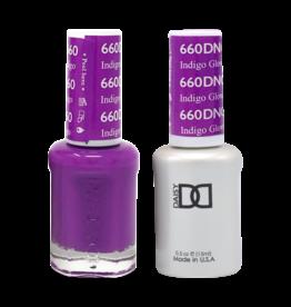 DND 660 Indigo Glow - DND Duo Gel + Lacquer
