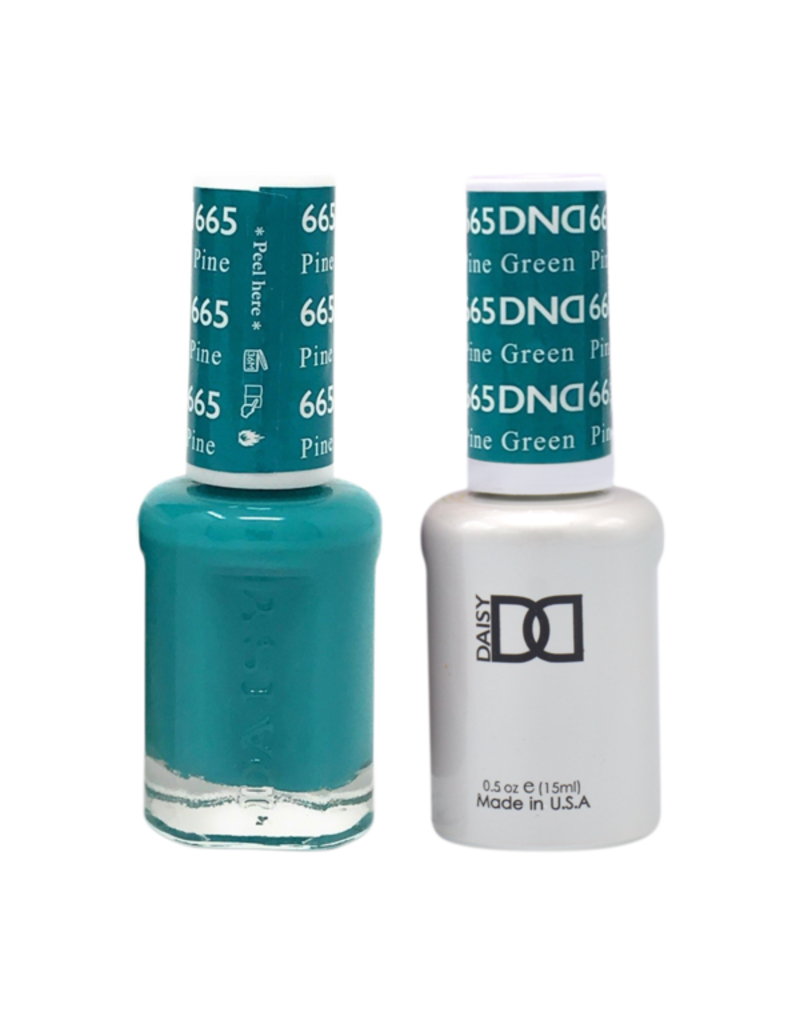 DND 665 Pine Green - DND Duo Gel + Lacquer