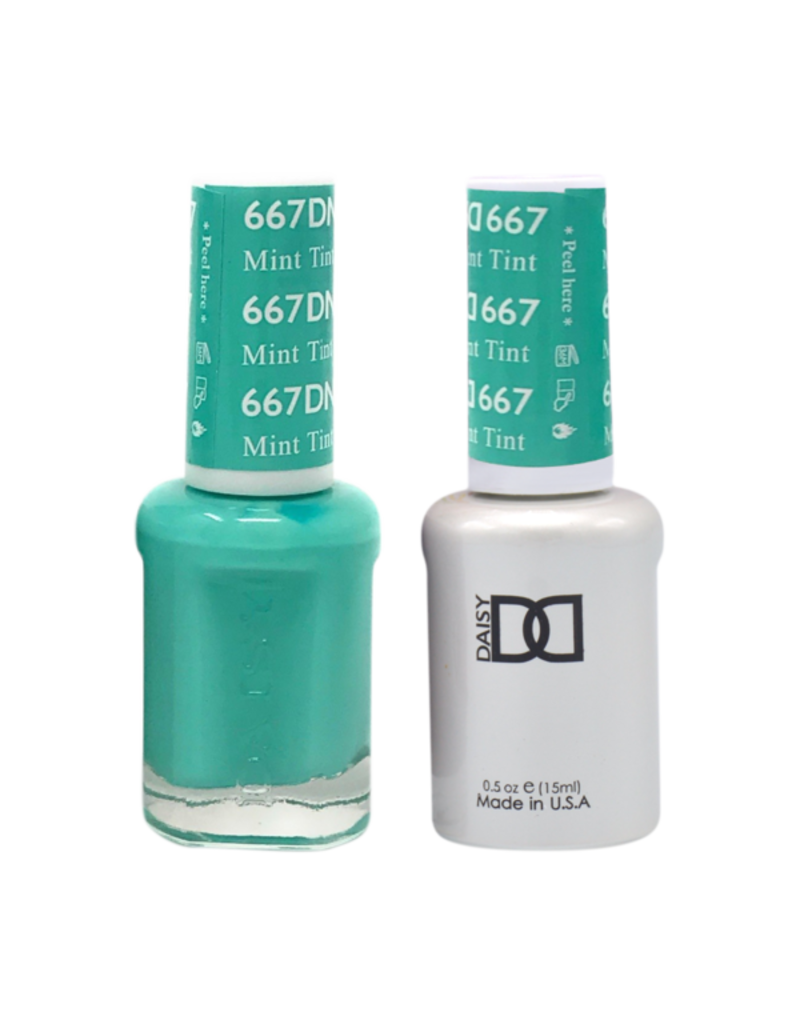 DND 667 Mint Tint - DND Duo Gel + Lacquer