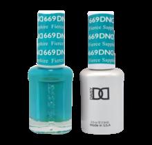 DND Duo Gel Matching Color - 669 Fierce Sapphire