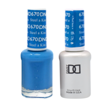 DND Duo Gel Matching Color - 670 Steel A Kiss