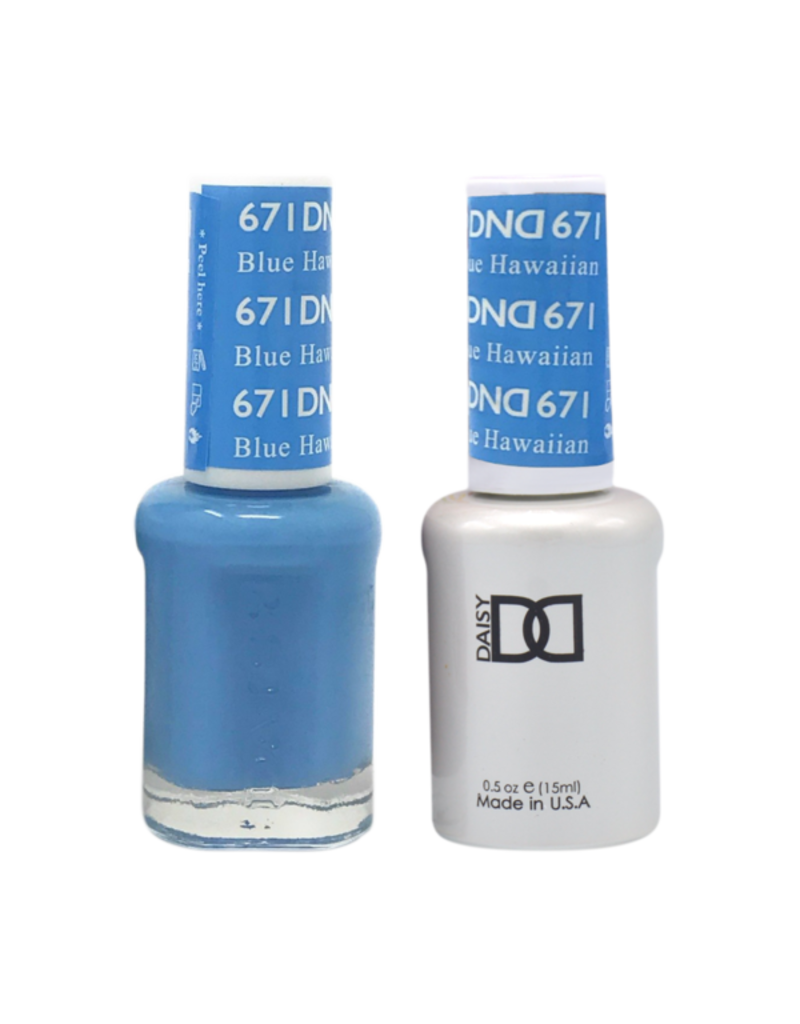 DND 671 Blue Hawaiian - DND Duo Gel + Lacquer