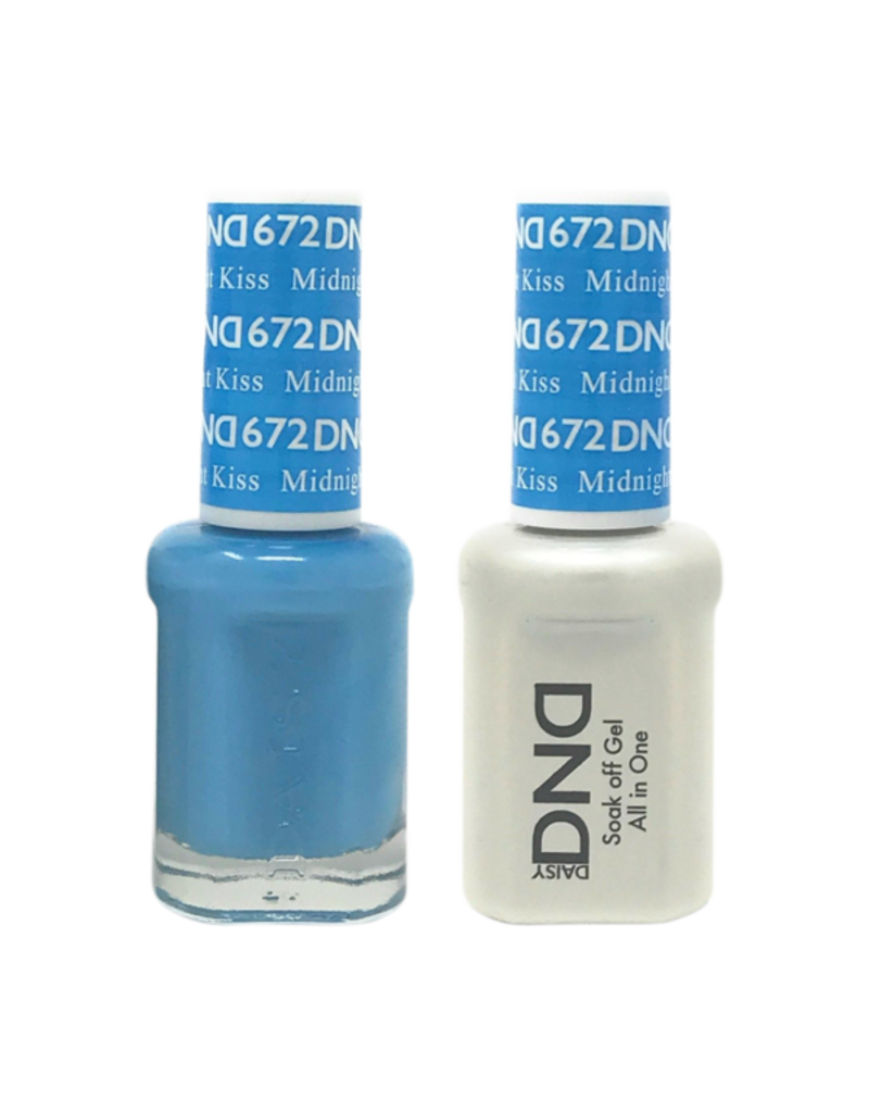 DND 672 Midnight Kiss - DND Duo Gel + Lacquer