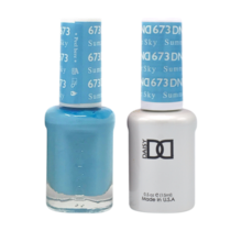DND Duo Gel Matching Color - 673 Summer Sky
