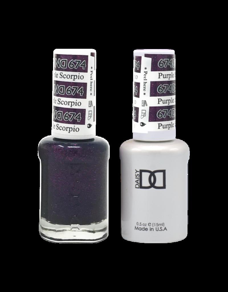 DND 674 Purple Scorpion - DND Duo Gel + Lacquer