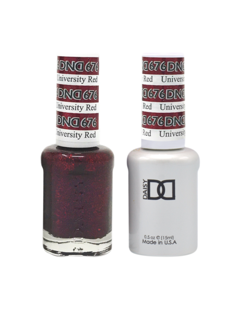 DND 676 Universal Red - DND Duo Gel + Lacquer