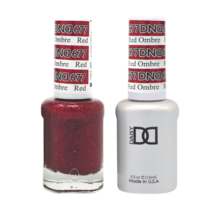 DND Duo Gel Matching Color - 677 Red Ombre