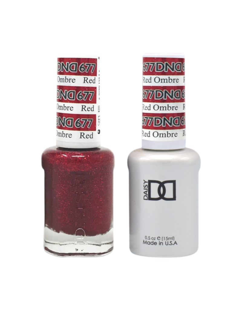 DND 677 Red Ombre - DND Duo Gel + Lacquer