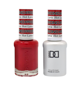 DND 690 Hot Lava - DND Duo Gel + Lacquer