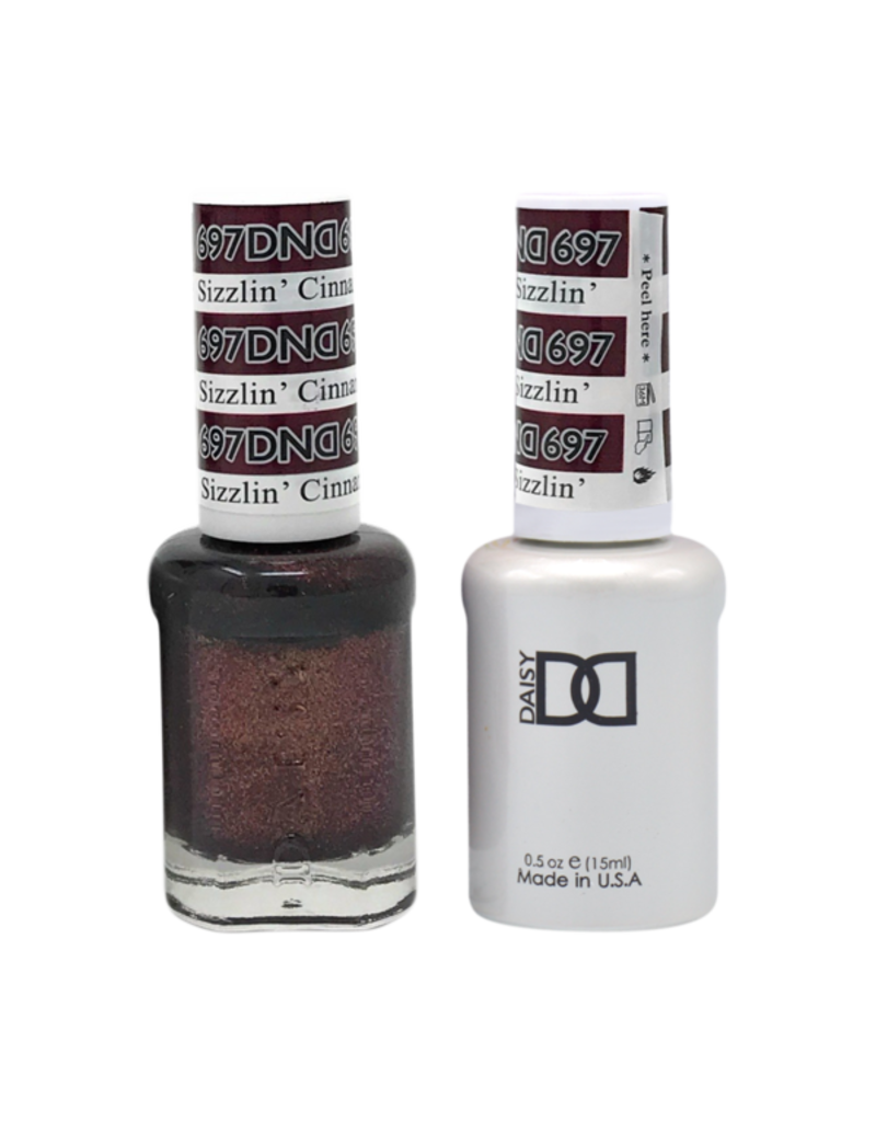 DND 697 Sizzlin' Cinnamon - DND Duo Gel + Lacquer