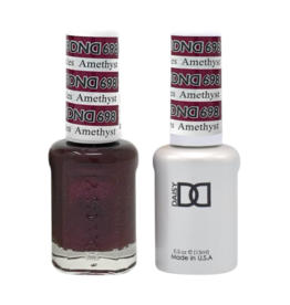DND 698 Amethyst Sparkles - DND Duo Gel + Lacquer